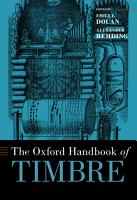 The Oxford Handbook of Timbre PDF