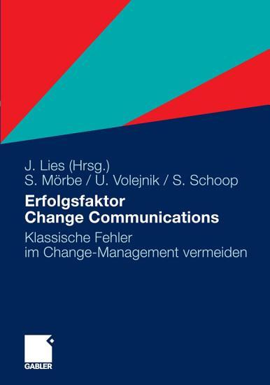 Erfolgsfaktor Change Communications PDF