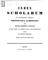 Index scholarum in Academia Regia Christiana Albertina: SS 1841