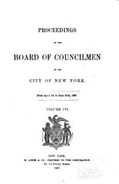 Proceedings of the Board of Councilmen of the City of New York: Volume 106