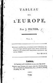 Tableau de l'Europe: Volume 1
