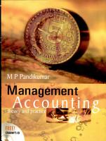 Management Accounting theory and practice PDF