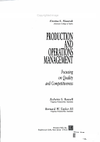 Production and Operation Management PDF