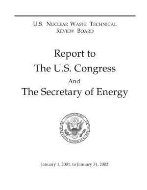U.S. Nuclear Waste Technical Review Board Report to the U.S. Congress and the Secretary of Energy: January 1, 2001, to January 31, 2002