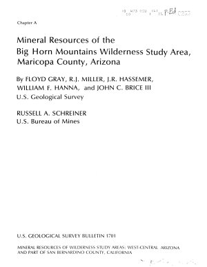 Mineral Resources of the Harquahala Mountains Wilderness Study Area  La Paz and Maricopa Counties  Arizona
