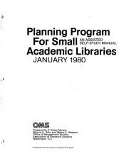Planning Program for Small Academic Libraries PDF