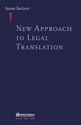 New Approach to Legal Translation PDF