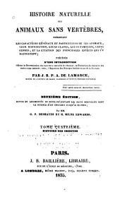 Histoire naturelle des animaux sans vertèbres ...: Histoire des insectes. 1835