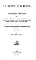 F  A  Brockhaus in Leipzig PDF