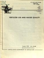Fertilizer Use and Water Quality PDF