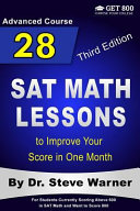 28 SAT Math Lessons to Improve Your Score in One Month   Advanced Course Book