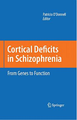 Cortical Deficits in Schizophrenia PDF