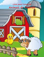 Livro para Colorir de Animais da Fazenda 1