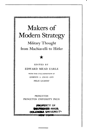 Makers of Modern Strategy PDF