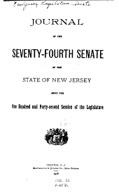 Journal of the ... Senate of the State of New Jersey: Being the ... Session of the Legislature, Volume 142