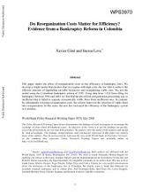 Do Reorganization Costs Matter for Efficiency?: Evidence from a Bankruptcy Reform in Colombia