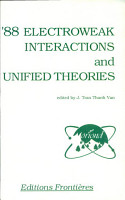 Electroweak Interactions and Unified Theories PDF