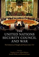 The United Nations Security Council and War PDF