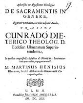 Aphorismi et quaestiones theologicae de sacramentis in genere