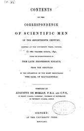 Correspondence of Scientific Men of the Seventeenth Century, Including Letters of Barrow, Flamsteed, Wallis, and Newton, Printed from the Originals in the Collection of the Earl of Macclesfield (published by Stephen Jordan Rigaud)