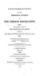 Considerations on the Principal Events of the French Revolution: Volume 3