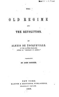 The Old Regime and the Revolution Book