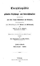 Encyklopädie des gesamten Erziehungs-und Unterrichtswesens: bearb. von einer Anzahl Schulmänner und Gelehrten, Band 8