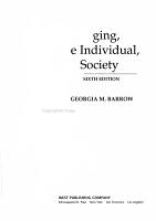 Aging  the Individual    Society PDF