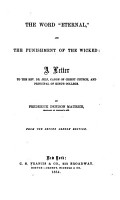 The Word  eternal   and the Punishment of the Wicked PDF