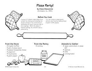 Pizza Party   English Muffin Pizzas Recipe PDF