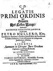 De Legatis primi Ordinis, von Gesandten des ersten Rangs