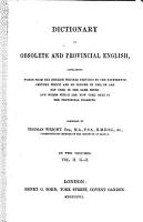 Dictionary of Obsolete and Provincial English PDF