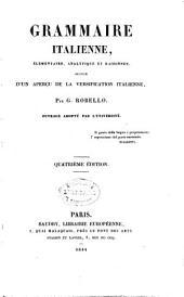 Grammaire italienne élementaire analytique et raisonnée: suivie d'un aperçu de la versification italienne