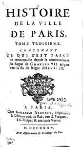 Histoire de la ville de Paris: Volume3