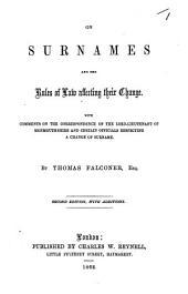 On Surnames, etc. Signed: T. F. i.e. T. Falconer