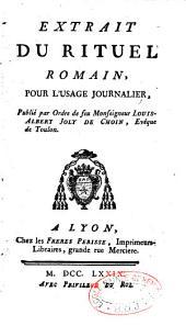 Extrait du rituel romain pour l'usage journalier ... Joly de Choin, à Toulon