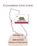 California Civil Code 2020 Edition  CIV  Volume 2 2 PDF
