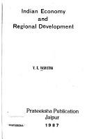 Indian Economy and Regional Development PDF