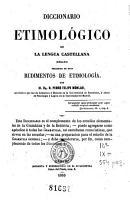 Diccionario etimol  gico de la lengua castellana PDF