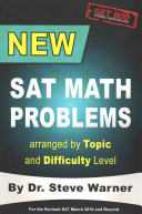 New SAT Math Problems Arranged by Topic and Difficulty Level Book
