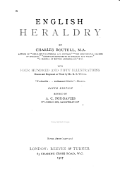 English heraldry: with four hundred and fifty illus. drawn and engraved on wood by R. B. Utting