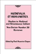Medievalia et Humanistica, No. 36