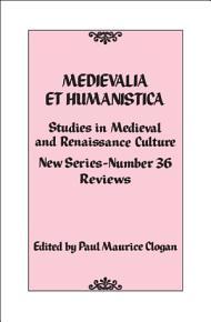 Medievalia et Humanistica  No  36 PDF