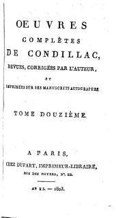 Œuvres complètes de Condillac: Histoire ancienne