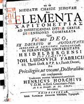 Elementa charitometrias ad investigandas divinae gratiae dimensiones comparata