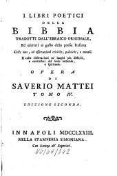 I Libri Poetici Della Bibbia: Volume 4