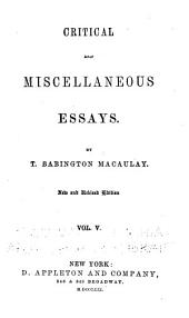 Critical and Miscellaneous Essays: Volume 5
