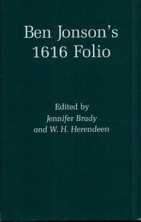 Ben Jonson s 1616 Folio Book