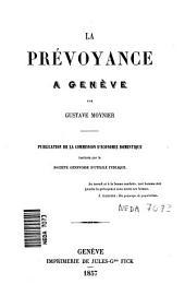 La prévoyance à Genève
