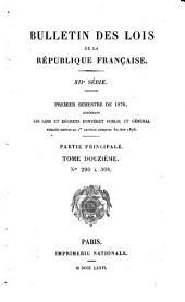 Bulletin des lois de la République Française: Volume 12